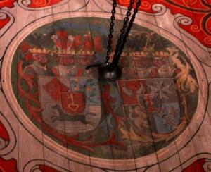 Cerkiew , herby patronackie, boczny chór, ŁN