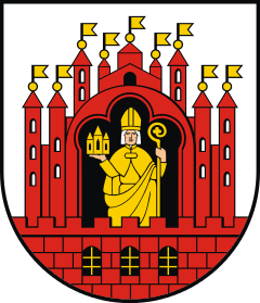 Biskup Chrystian w herbie Grudziadza, żródło Wikipedia