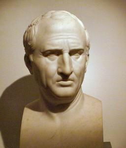 Marek Tulliusz Cyceron, popiersie autorstwa Bertela Thorvaldsena 1799 -1800, źródło Wikimedia Commons