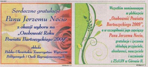 Goniec Bartoszycki 26 czerwca - 02 lipca 2009