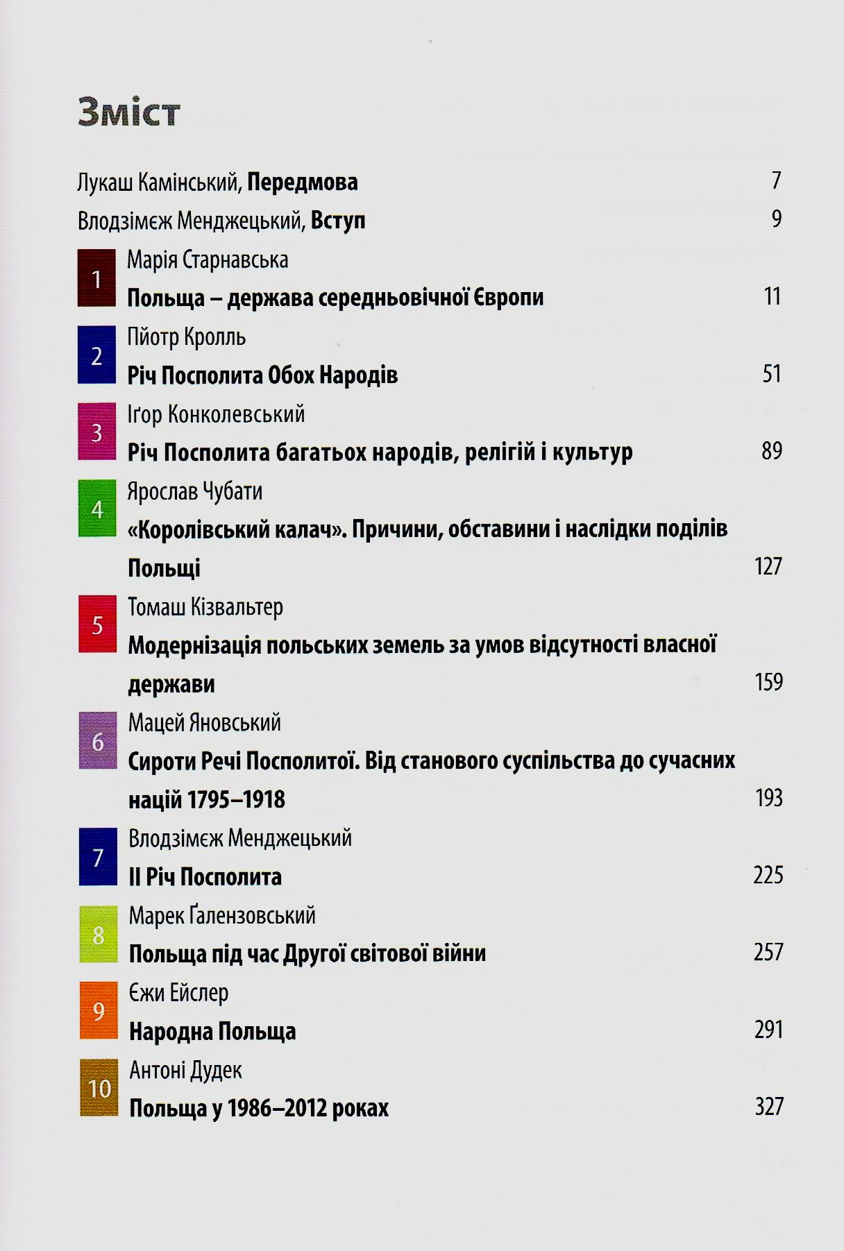 Hist. Polski w jęz. ukr. 14.11.2015 - spis treści