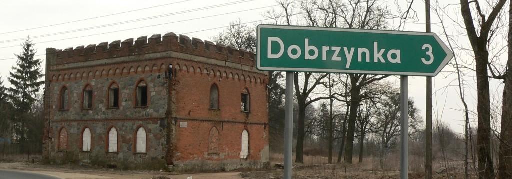 Stega  Mała , drogowskaz Dobrzynka